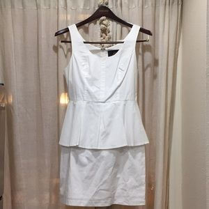 JACK DAMON DRESS WHITE PEPLUM